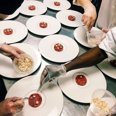 Plating the first course for our Macallan Winter Warmer Dinner
