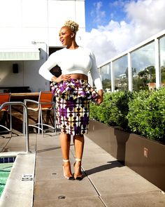 351ecc1aa2 claire sulmers demestiks by reuben reuel kait bias peplum skirt fashion bomb  daily claire sulmers essence black women in hollywood luncheon 2014