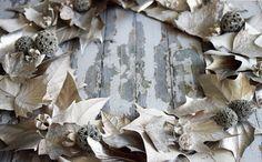 Diy corona navideña hojas secas