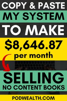 Discover copy paste job to make passive income selling books online - no or low content! Here's my system to make $8,646 per month and how you can do it too! Earn Extra Cash, Making Extra Cash, Extra Money, Earn Money From Home, Make Money Blogging, Make Money Online, Make Easy Money, Make Money Fast, How To Make
