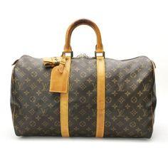 Louis Vuitton Keepall 45 Monogram Luggage Brown Canvas M41428