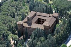 "Sept. 26, ‪#‎FortressFriday, Here we find the important Palace Fortress of La Badia, or Castello di Magione. The site was originally a pilgrims hostel controlled by the Templars, but passed to the Order of St. John of the Hospital in the 14th century. The current fortifications we see began under the Hospitallers. In the early 16th century, it became the site for the plot against Cesare Borgia led by Cardinale Giovan Battista Orsini; a plot described in ""The Prince"" by Machiavelli."