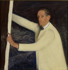 """Valentín de Zubiaurre y Aguirrezábal,"" Ramón de Zubiaurre, 1930, oil on canvas, 35 7/16 x 35 1/4"", Hispanic Society of America."