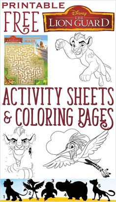 Free The Lion Guard Printables: Coloring, Activity Pages!