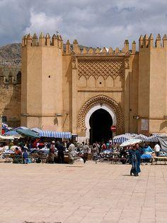 Fez, Morocco the entrance to the medina