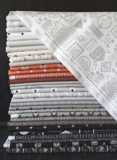 Fabric is Smoke & Rust by Lella Boutique for Moda Fabrics shipping April 2021. A modern and masculine collection.