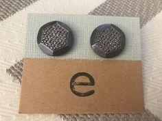 Hexagon Studded Earrings by Gingerproducts on Etsy https://www.etsy.com/listing/494528612/hexagon-studded-earrings