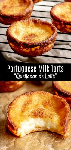 Portuguese Milk Tarts Queijadas de Leite are a traditional Portuguese dessert recipe made with simple ingredients Milk sugar butter eggs and a little flour bake… – Food: Veggie tables Milk Recipes, Tart Recipes, Baking Recipes, Sweet Recipes, Sushi Recipes, Egg Recipes, Recipes Dinner, Recipies, Milk Dessert