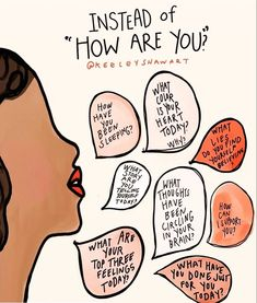 """Instead of asking """"how are you?"""" try these:  