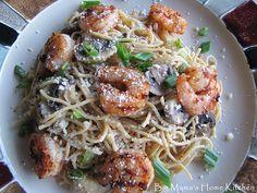 Big Mama's Home Kitchen: Lemon Angel Hair Pasta with Grilled Shrimp