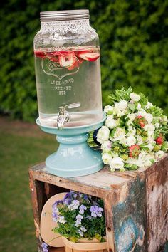 Refreshing refreshment station for while waiting for the ceremony to begin?