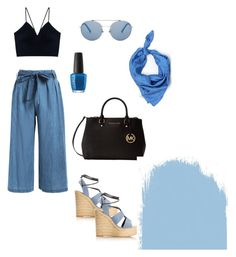 """""""summerwinne 😚"""" by aggeliki27796 on Polyvore featuring Yves Saint Laurent, Michael Kors, Brooks Brothers and OPI"""