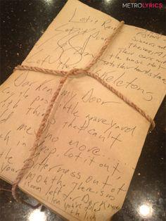 Zac Brown Band's Handwritten Lyrics to #LetItRain