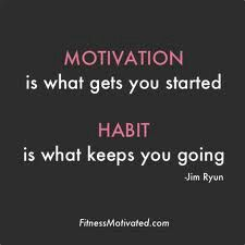 New habits lead to a new me.