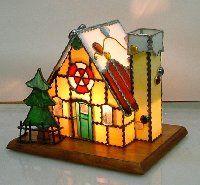 お菓子の家(型紙付)木板バタフライ型* - ☆Xmas Holiday☆/ハウスベース [ステンドグラスサプライ・ネットショップ]