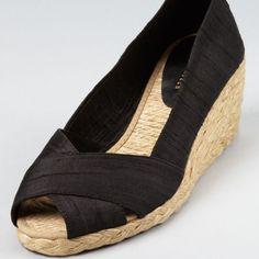 e930e756836f Ralph Lauren Espadrilles Black Wedge Shoes