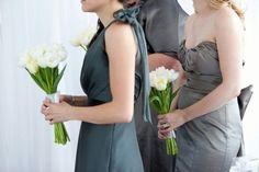 Cute bridesmaid dress on the left
