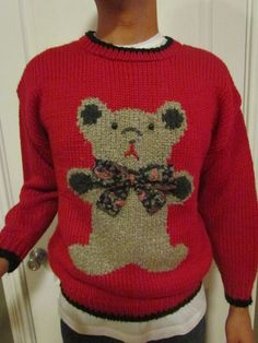Ugly Chirstmas Sweater - Size EXTRA LARGE. $20.00, via Etsy. this one just makes me sad.