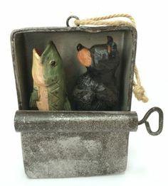 Bear And Fish In Tin Sardine Can Hunting Fishing Christmas Tree Ornament Decor