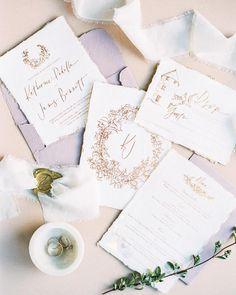 See the Fresh Wedding Color Palette Inspiring Us Now Unique Wedding Stationery, Custom Wedding Invitations, Wedding Stationary, Wedding Paper, Wedding Cards, Purple Wedding, Wedding Colors, Wedding Flowers, Wedding Shoot