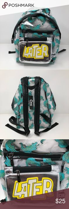 "Circus by Sam Edelman Gator Backpack Clear Gator Clear Jelly Backpack * Jelly Vinyl/PU leather accent * Size: 10"" width x 12"" height x 4.5"" depth * Top carrying handle * Dual adjustable padded shoulder straps * Double exterior zipper pocket * Clear/Multi Circus by Sam Edelman Bags Backpacks"