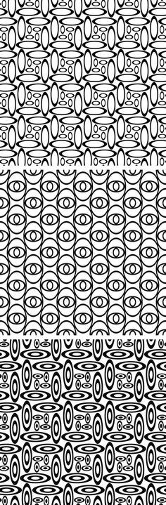 Seamless monochrome ellipse patterns #blackwhite