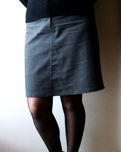 Pantalon large transformé en jupe