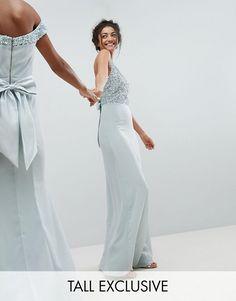 Maya Tall - Vestito lungo attillato senza maniche con paillettes aec05026a56