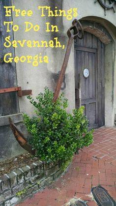 Free Things to Do in Savannah Georgia!