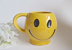 McCoy Pottery Smiley Mug Vintage by treasurecoveally on Etsy