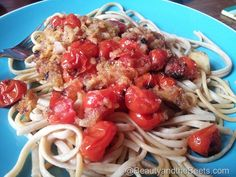 Roasted Tomato Pasta for Vegan Monday  #VeganMonday #Vegan