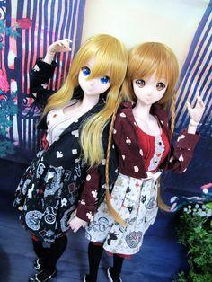 Smart Doll Kizuna Yumeno and Mirai Suenaga by dolktokyo