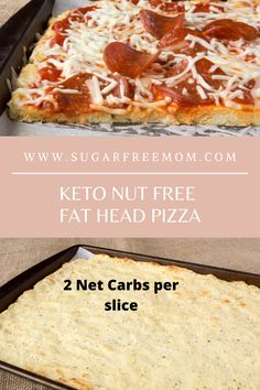 Keto Nut Free Fat Head Pizza Low Carb Pizza, Low Carb Bread, Keto Bread, Low Carb Keto, Ketogenic Recipes, Diabetic Recipes, Low Carb Recipes, Ketogenic Diet, Keto Foods