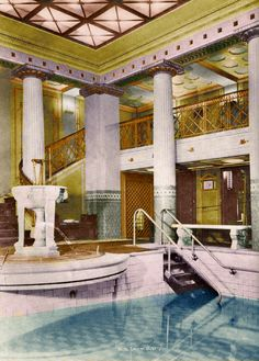 The mighty German SS Imperator's pool had a strong and power full feel to it!