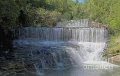 Keuka-Seneca Outlet Waterfall between Seneca Lake and Keuka Lake in the Finger Lakes Region of New York