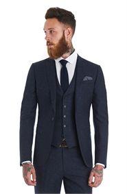Moss London Slim Fit Blue Speckled 3 Piece Suit