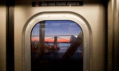 """unexpected art, from the NYTimes. The writer talks about art he sees from the Q train. And lauds the street artist known as """"Poster Boy"""" These are serendipitous interruptions to everyday life, how can we do it intentionally?"""