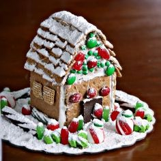 Graham Cracker Gingerbread House with Marshmallow Icing