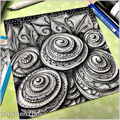 Decorated printemps spirals and toodles. Enioken.com #eniokenbooks #eniokenartclub #zentangle #zentangleart #doodle #surelysimple @surelysimplechallenge #doodleart #zendoodle #hearttangles #artpalooza @surelysimplechallenge #surelysimpleart #art_we_inspire #art_empire #artistic_nation #art_whisper #zenartweekend