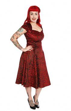 Collectif Regina Doll Leo Velvet Dress