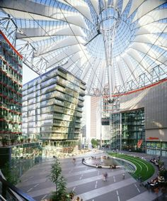 Sony Center, Berlin by Murphy Jahn. My photos could not give it justice