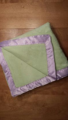 Blanket for mom. Super soft one layer of fleece with satin binding.