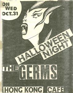 Halloween Punk Flyer from the Hong Kong Cafe