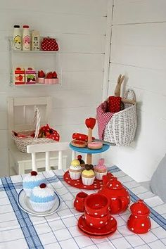 cubby house by I like the basket painted white. Kids Cubby Houses, Kids Cubbies, Play Houses, Garden Playhouse, Playhouse Ideas, Inside Playhouse, Kids Play Spaces, Wendy House, Crafts For Kids