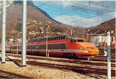 mythic orange french 70s tgv bullet train