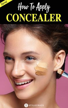 Applying foundation and primer is not just enough for flawless makeup. If you have any pimple, acne, dark spots then concealer will be helpful for you. Because concealer can help you to conceal all your imperfection that you don't want others to see. How To Apply Concealer, Best Concealer, Cream Concealer, Waterproof Concealer, Eye Makeup Tips, Makeup Tricks, Makeup Products, Makeup Ideas, Make Up