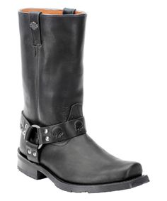 Black Rory Leather Motorcycle Boot - Men by Harley-Davidson Footwear #zulily #zulilyfinds