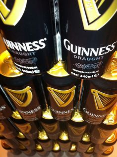 photo by pablovilla, via Flickr Guinness Draught, Energy Drinks, Beverages, Canning, Black, Food, Meal, Black People, Essen