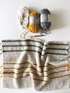 Annie's Crochet Herringbone Half Throw (Daisy Farm Crafts) Crochet Afghans, Annie's Crochet, Crochet Blanket Patterns, Crochet Crafts, Crochet Stitches, Knitting Patterns, Knitting Ideas, Crotchet, Afghan Patterns