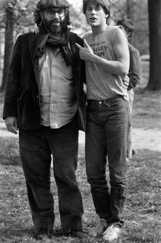 Rob and Francis on the set of The Outsiders